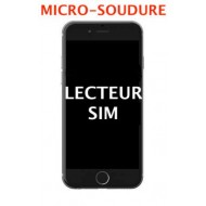 Lecteur de cartes SIM micro-soudure iPhone 7, 7 Plus